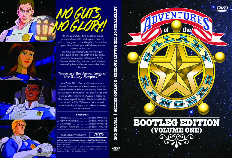 Package Design Adventures Of The Galaxy Rangers Dvd