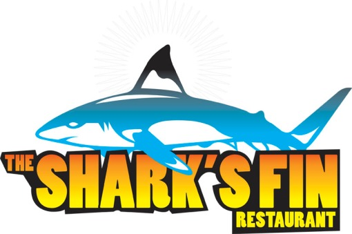 The shark's fin restaurant logo