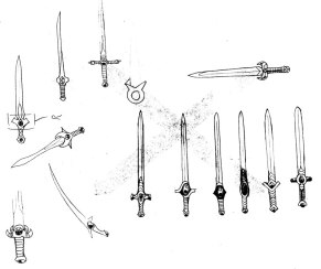 Sword designs for the Sisterhood